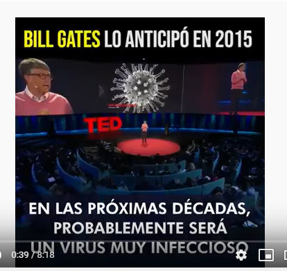Bill Gates lo sabia en 2015 … Increíble video sobre la pamdemia